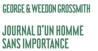 George et Weedon Grossmith, Journal d'un homme sans importance