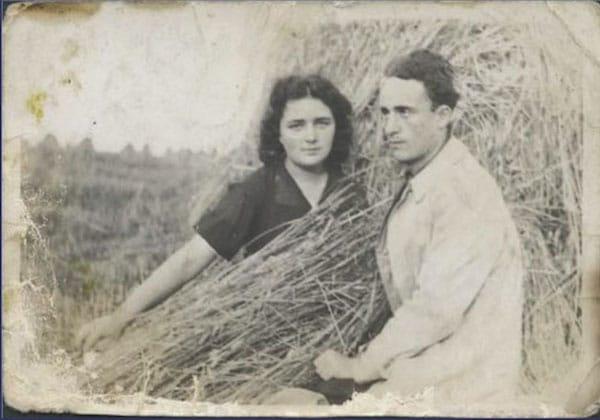 Sa femme Esther et Leïb Rochman