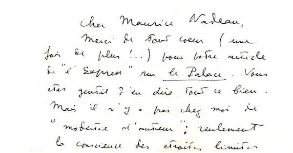 Lettre de Claude Simon à Maurice Nadeau, le 12 avril 1962