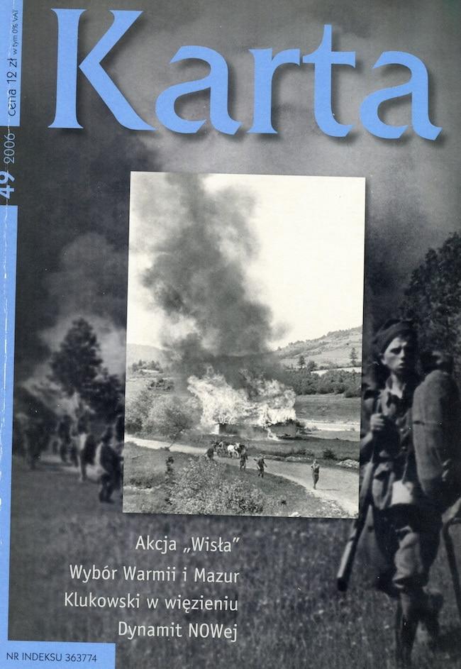 Numéro spécial de Karta, une revue indépendante d'histoire, parue en Pologne pour le soixantième anniversaire de l'opération Vistule.
