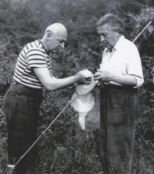 Benjamin Péret et André Breton à Saint-Cirq la Popie en 1956. © Collection André Breton