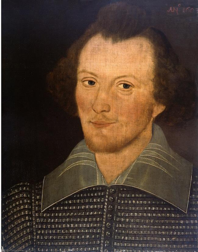 """Le """"Portrait Sanders » de William Shakespeare (présumé)"""