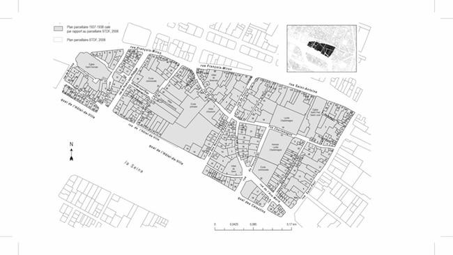 Plan de l'îlot 16 en 1938.