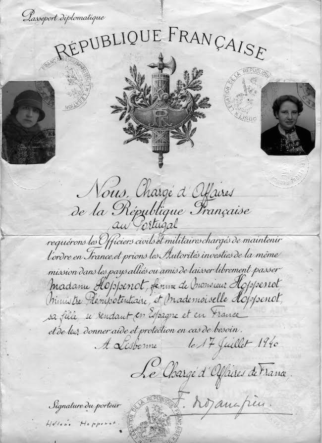 Hoppenot passeport