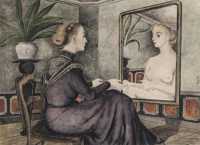 delvaux femme au miroir