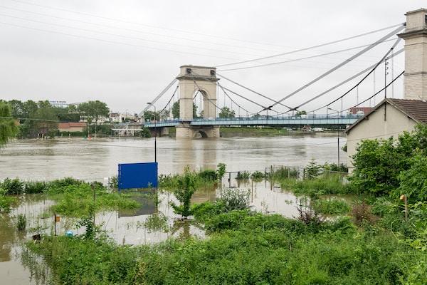 Crue de la Seine en juin 2016, à Vitry © Christophe Pinard