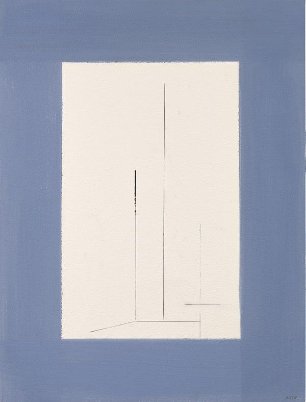 Geneviève Asse, De gris et de bleu, Galerie Antoine Laurentin