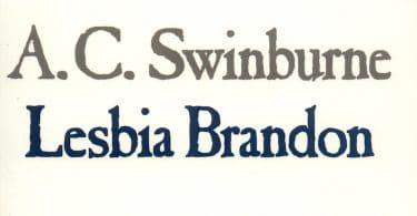 Algernon Charles Swinburne, Lesbia Brandon