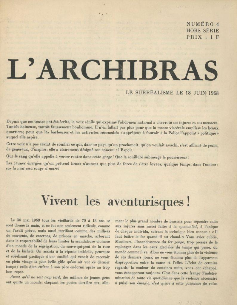 Pierre Peuchmaurd, Plus vivants que jamais. Journal des barricades.