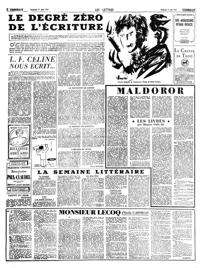 Maurice Nadeau, Soixante ans de journalisme littéraire. Tome 1 : Les années « Combat » 1945-1951