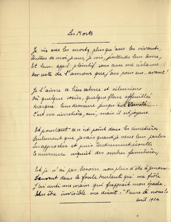 Manon Pignon et Yann Potin, 1914-1918. Françoise Dolto veuve de guerre à sept ans.