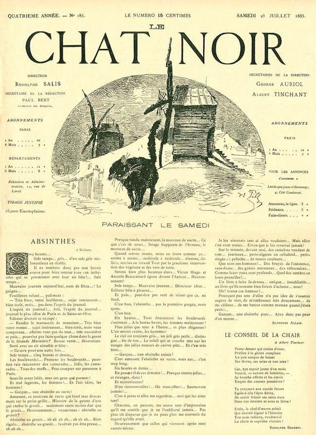 Éric Janicot, Le Chat Noir & la bande dessinée