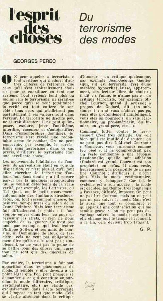 Georges Perec, Entretiens, conférences, textes rares, inédits