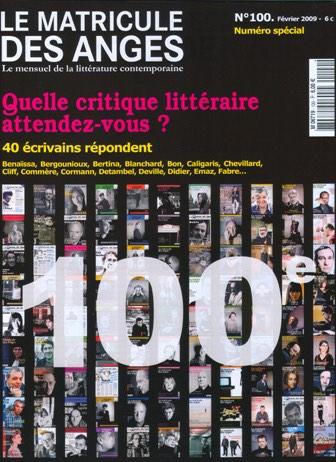 Le numéro 100 des numéros 100 : Le Matricule des Anges