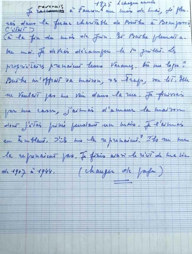 Archives et manuscrits (6) : Violette Leduc, dernière page