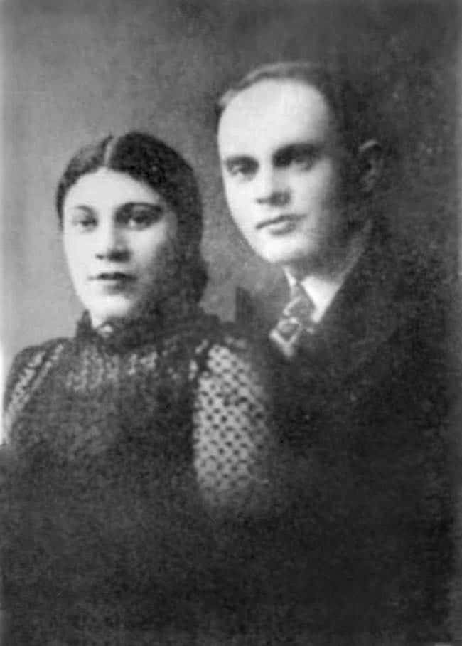 Zalmen Gradowski avec son épouse Sonia (vers 1935)