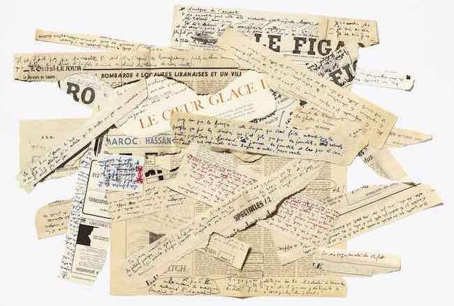 Les valises de Jean Genet IMEC Exposition En attendant Nadeau