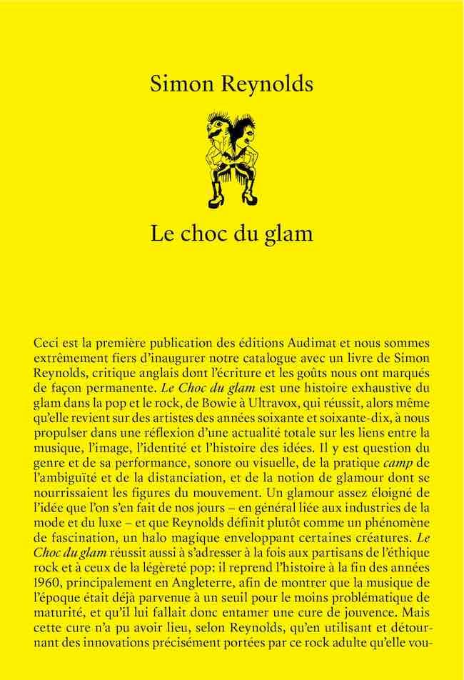 Le choc du glam, de Simon Reynolds : Am-stram-glam…