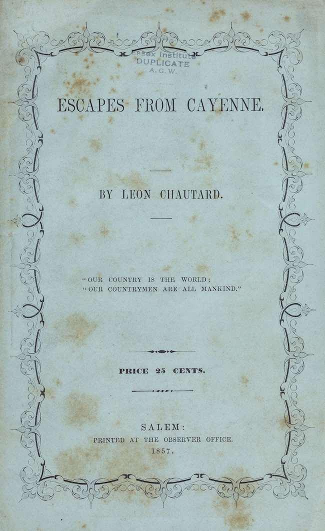 Léon Chautard. Un socialiste en Amérique, 1812-1890, de Michaël Roy