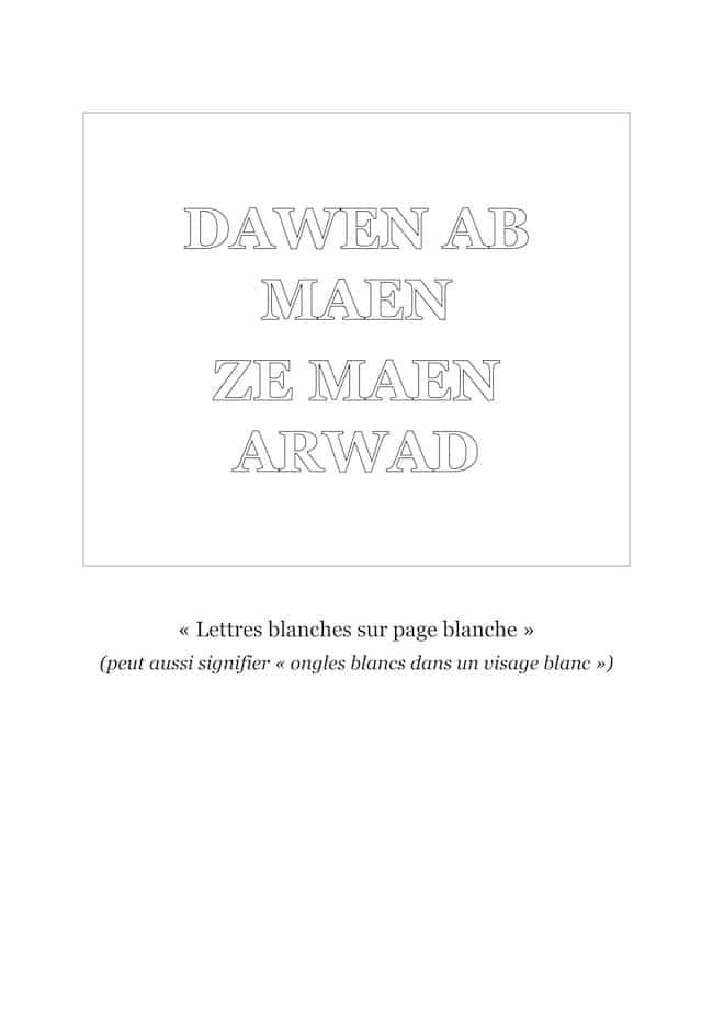 Les écrivains autour du blanc : une définition de Frédéric Werst