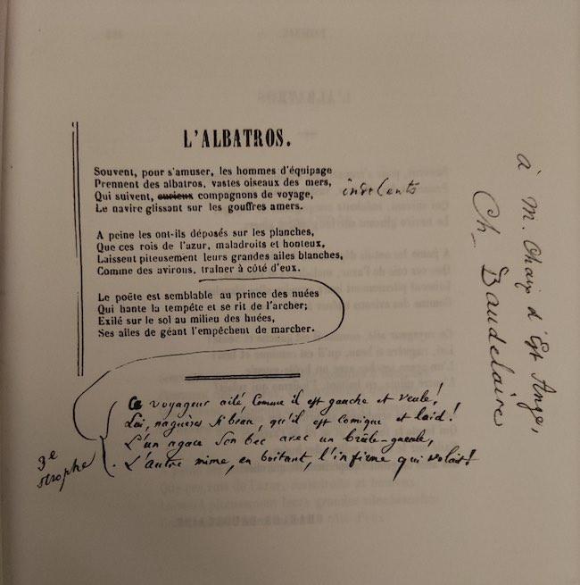 Archives et manuscrits (9) : Baudelaire et la genèse de « L'albatros »